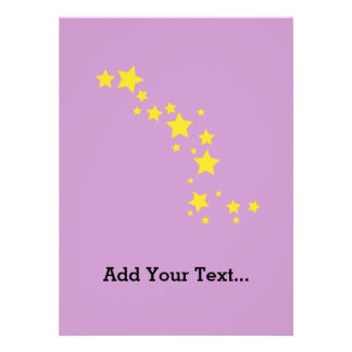 Yellow Stars Custom Invites