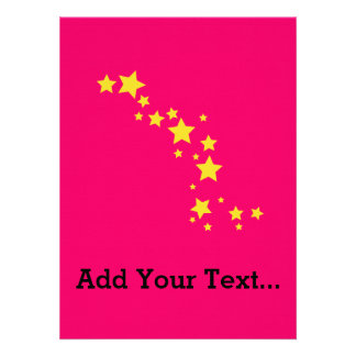 Yellow Stars Personalized Announcements