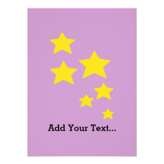 Yellow Stars Personalized Invites