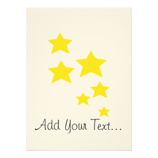 Yellow Stars Personalized Invite