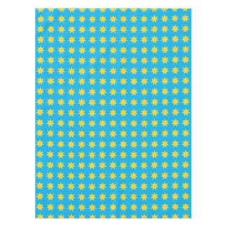 Yellow stars on blue, christmas table cloth