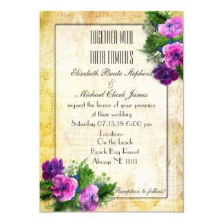 "Yellow - Steam Punk - Wedding -Semi-Gloss 5"" x 7"" 13 Cm X 18 Cm Invitation Card"