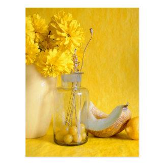 Yellow Still Life Recipe Card Postcard