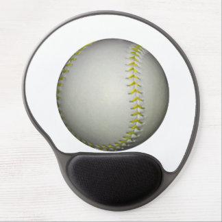 Yellow Stitches Baseball / Softball Gel Mouse Pad