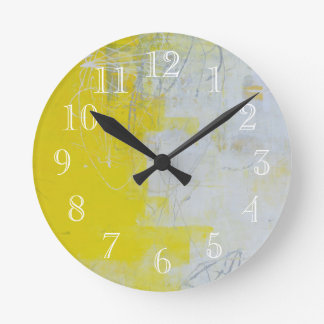 Yellow Stone Round Clock