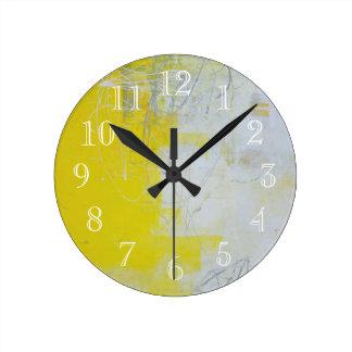 Yellow Stone Wall Clocks
