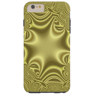 Yellow strange pattern tough iPhone 6 plus case