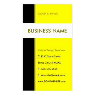 yellow streamline business card template