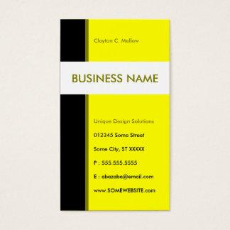 yellow streamline business card