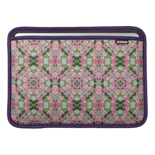 Yellow-Striped Pink Rickshaw Macbook Air Sleeve