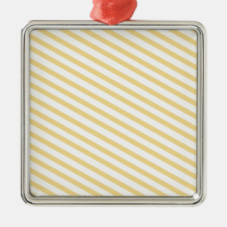 Yellow Stripes Background Christmas Ornament