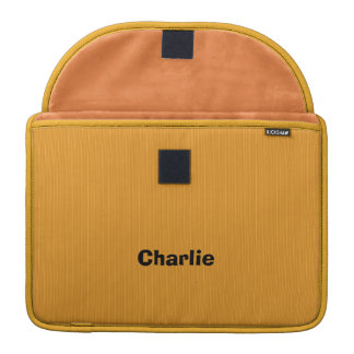 Yellow Stripes custom monogram MacBook sleeve