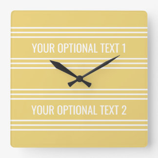 Yellow Stripes custom wall clock