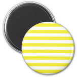 Yellow Stripes Fridge Magnet