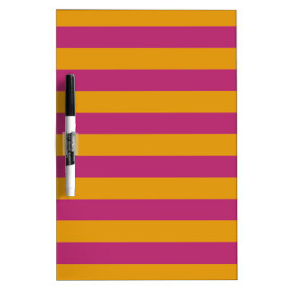 Yellow Stripes On ANY Color message board Dry-Erase Whiteboard