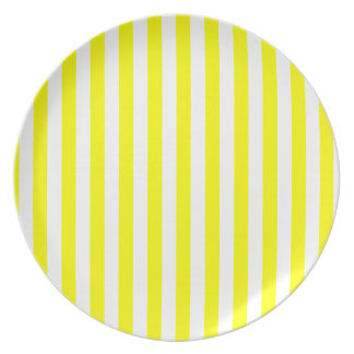 Yellow Stripes Plate