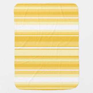Yellow stripes pramblankets