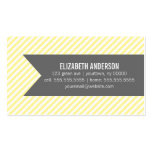Yellow Stripes Social Calling Cards Business Card Templates