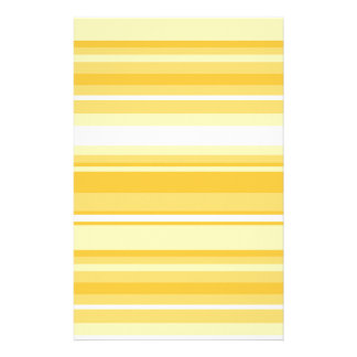 Yellow stripes stationery