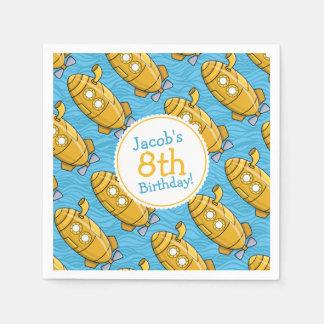 Yellow Submarine Boy's Birthday Disposable Serviettes