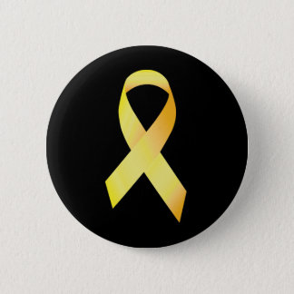 Yellow Suicide Prevention Ribbon 6 Cm Round Badge