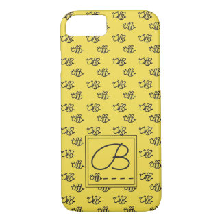 Yellow Summer Bees Pattern iPhone 8/7 Case
