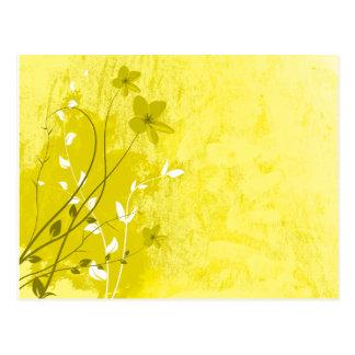 yellow summer flowers postcard