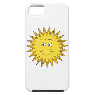Yellow Summer Sun with a Happy Face. iPhone 5 Covers