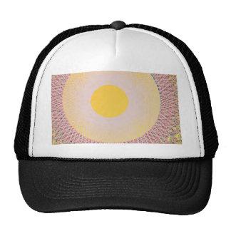 yellow sun abstract art hats