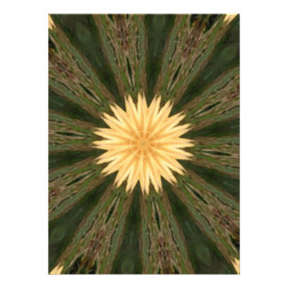 Yellow Sun Green Grass Kaleidoscope Announcement