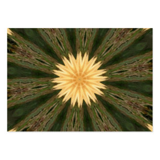 Yellow Sun Green Grass Kaleidoscope Pack Of Chubby Business Cards