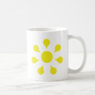 yellow sun icon coffee mug