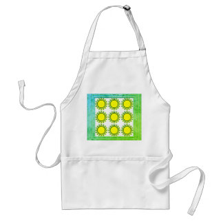 Yellow Sun Pattern Standard Apron