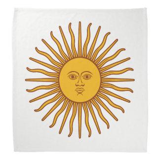 Yellow Sun Symbol Drawing White Bandana