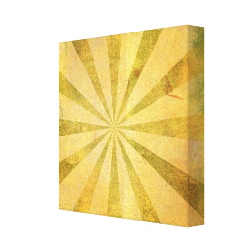 Yellow Sunburst Grungy Canvas Print