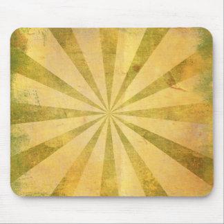 Yellow Sunburst Grungy Mouse Pad
