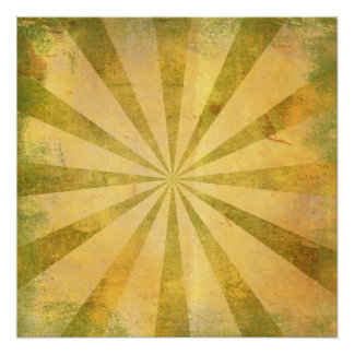 Yellow Sunburst Grungy Perfect Poster