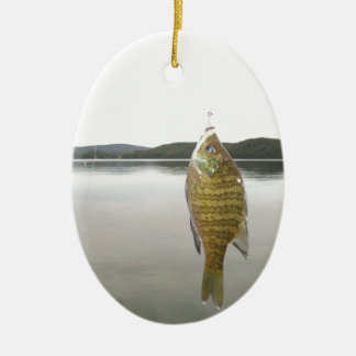 Yellow sunfish at Lake Arrowhead Christmas Ornament