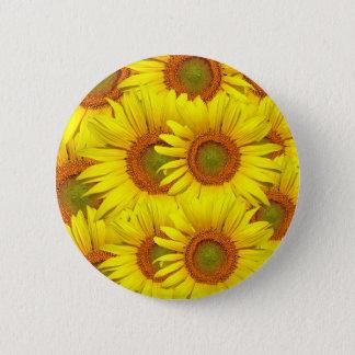 Yellow Sunflower 6 Cm Round Badge