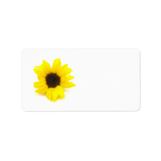 Yellow Sunflower Address Label