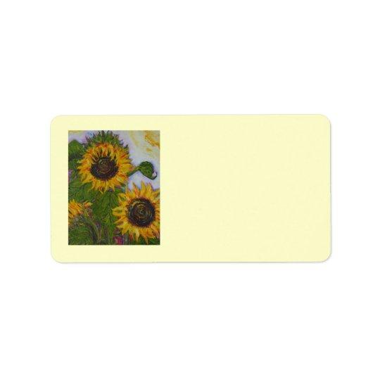 Yellow Sunflower Address Label