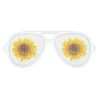 yellow sunflower aviator sunglasses