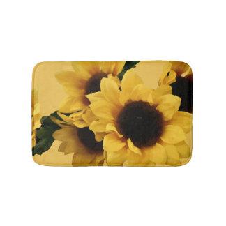 Yellow Sunflower Bath Mat Bath Mats