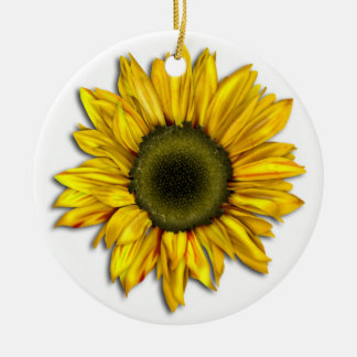 Yellow Sunflower Ceramic Ornament