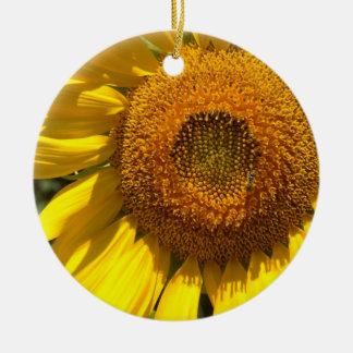 Yellow Sunflower Christmas Ornament