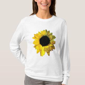 Yellow Sunflower Closeup Ladies T-Shirt