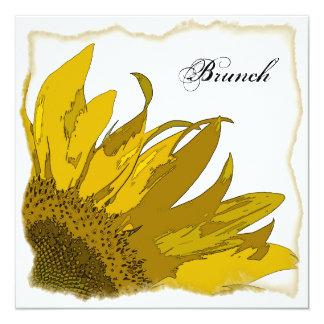 Yellow Sunflower Corner Post Wedding Brunch Invite