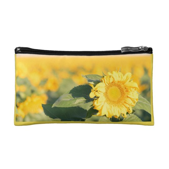 Yellow Sunflower Cosmetic Bag
