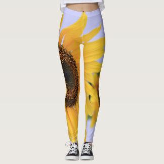 Yellow Sunflower design leggings
