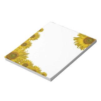 Yellow Sunflower Edge Notepad